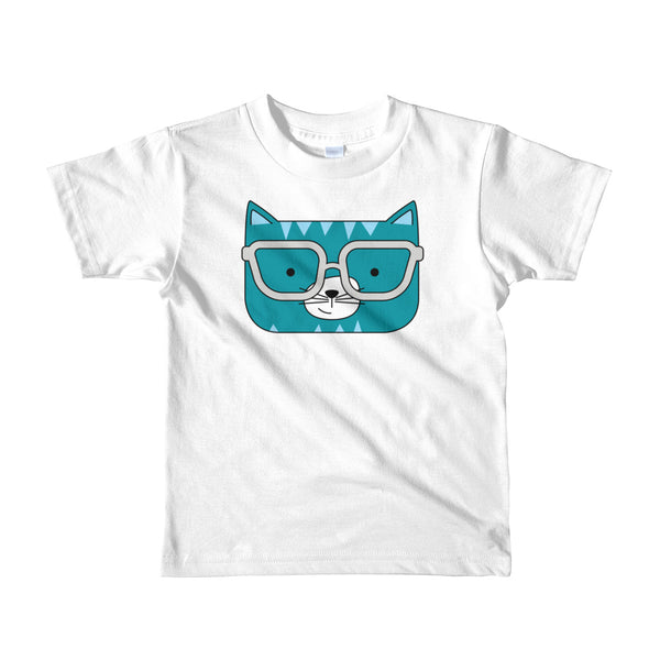 Kids T-Shirt_Stripes Cool Cat Green