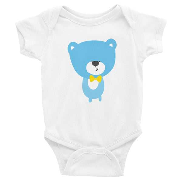 Infant Bodysuit_Baking Bear Grey