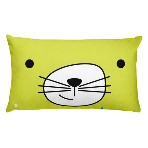 Premium Pillow_Scribbles Cool Cat Pink