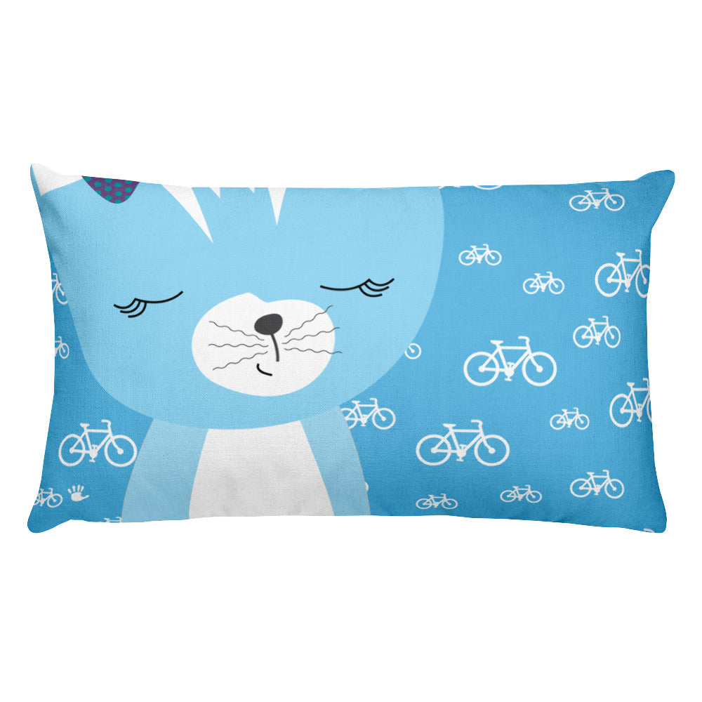 Premium Pillow_My Bike Smarty Pants Blue