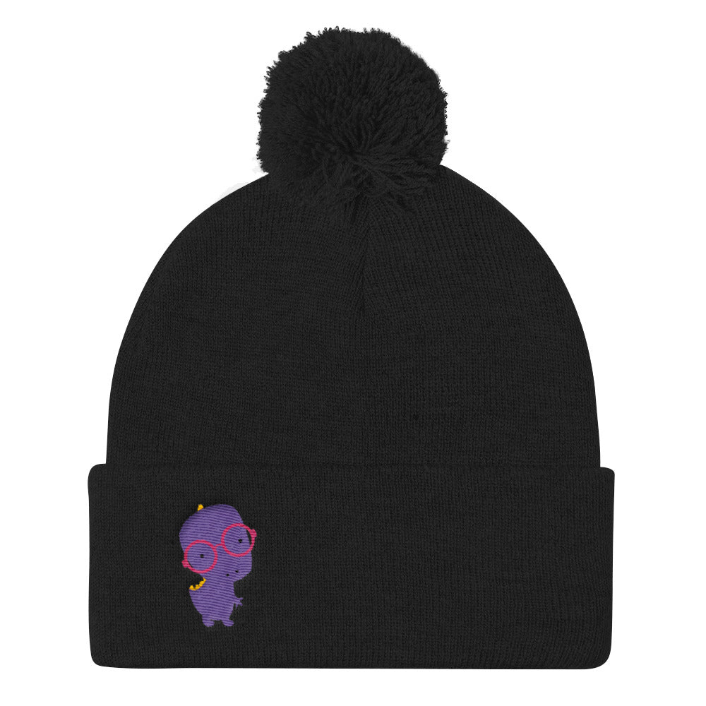 Pom Pom Knit Cap_Alternative Whinno Dino Purple