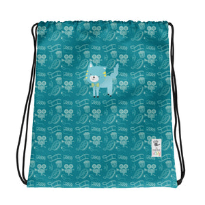 Drawstring Bag_Cinema Silly Kitty Blues