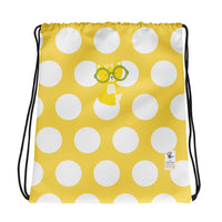 Drawstring Bag_Polka Dottie Smarty Pants Yellow