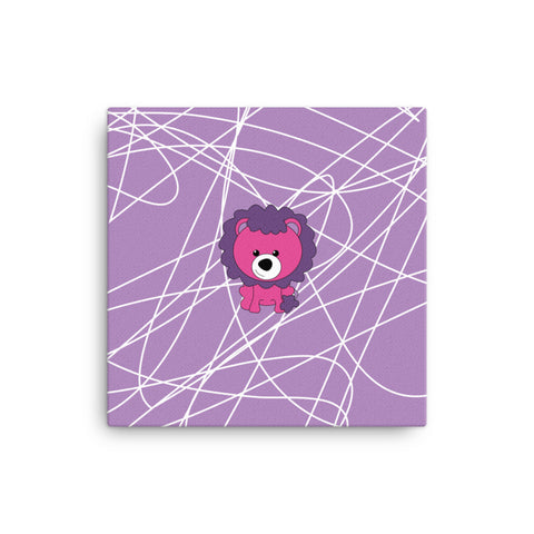 Canvas_Scribbles Lion Lion Purple