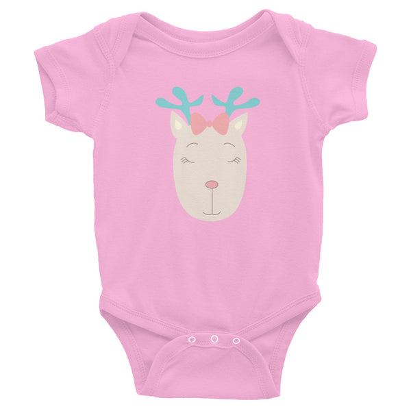 Infant Bodysuit_Music Notes Deer Turquoise