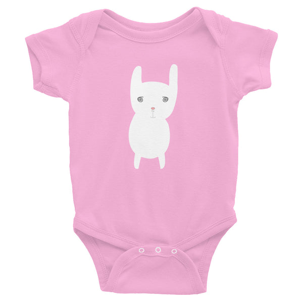 Infant Bodysuit_Hungry Funny Bunny Red