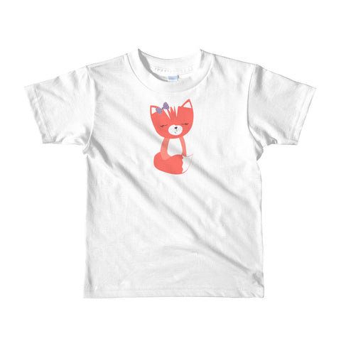 Kids T-Shirt_Hidden Kitten Red
