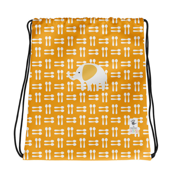Drawstring Bag_Hungry Elephant Orange