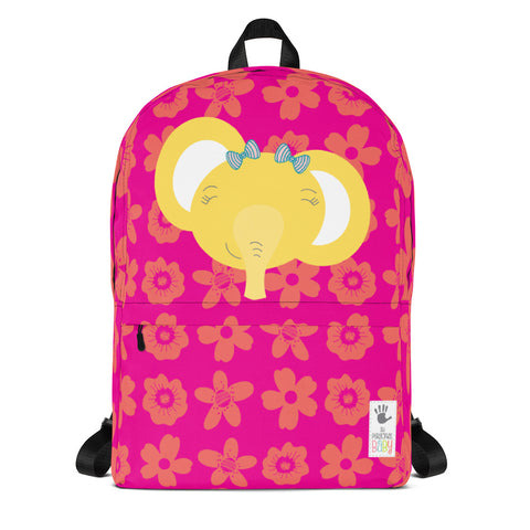 Backpack_Flower Power Elephant Pink