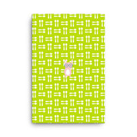 Canvas_Hungry Funny Bunny Green