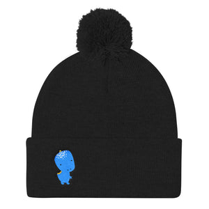 Pom Pom Knit Cap_Alternative Whinno Dino White