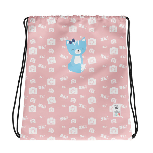 Drawstring Bag_Say Cheese Smarty Pants Pink