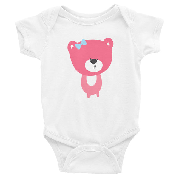 Infant Bodysuit_Baking Bear Green Pink