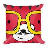 Premium Pillow_Solid Yellow Cool Cat