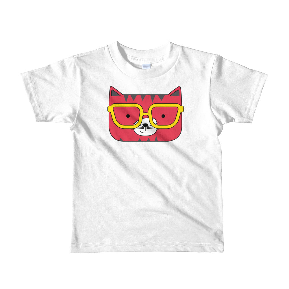 Kids T-Shirt_Solid Yellow Cool Cat