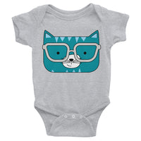Infant Bodysuit_Horizontal Stripes Cool Cat Green Yellow