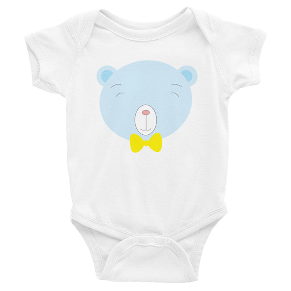 Infant Bodysuit_Baking Bear Blue