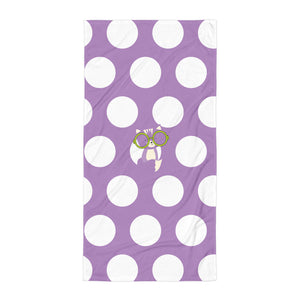 Towel_Polka Dottie Smarty Pants Purple
