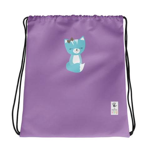 Drawstring Bag_Solid Purple Smarty Pants