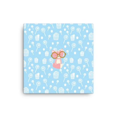 Canvas_Sweetie Smarty Pants Blue Pink