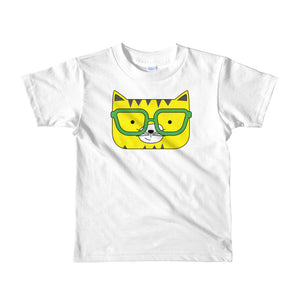 Kids T-Shirt_Solid Pink Cool Cat