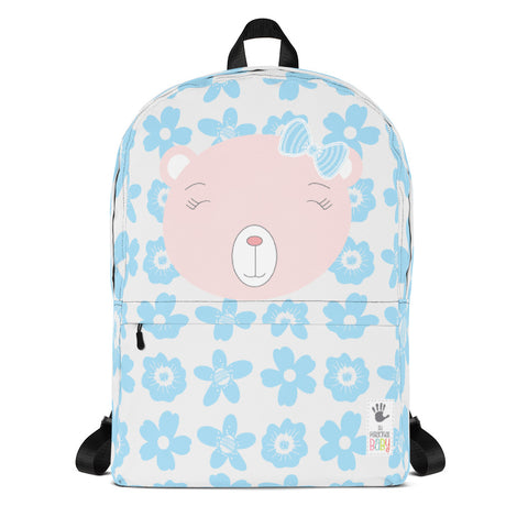 Backpack_Flower Power Bear Blue Pink