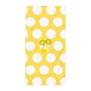 Towel_Polka Dottie Smarty Pants Yellow