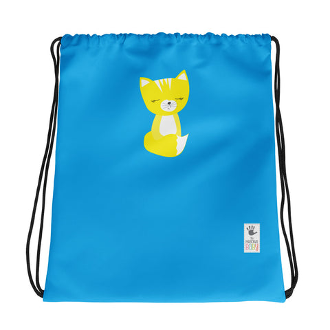 Drawstring Bag_Solid Blue Smarty Pants Blue