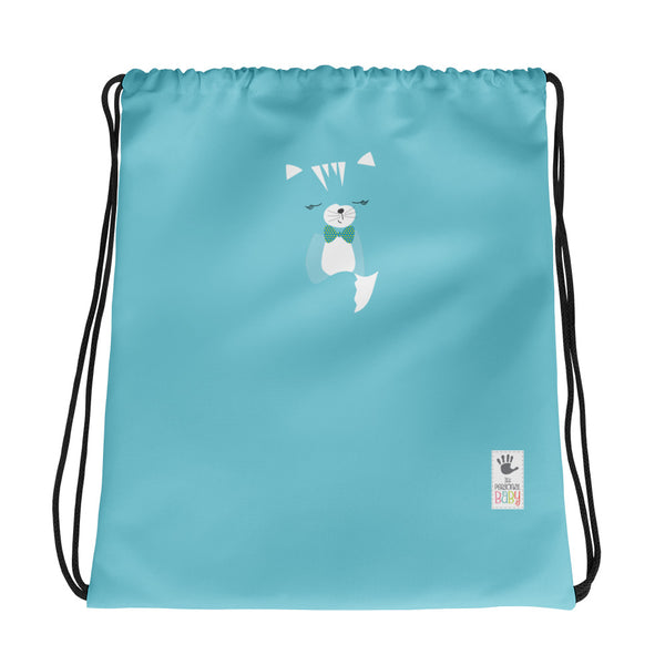 Drawstring Bag_Hidden Kitten Blue