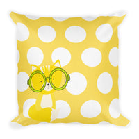 Premium Pillow_Polka Dottie Smarty Pants Yellow