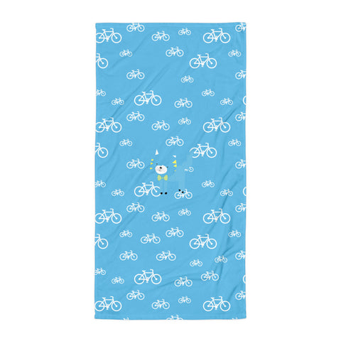 Towel_My Bike Silly Kitty Blue