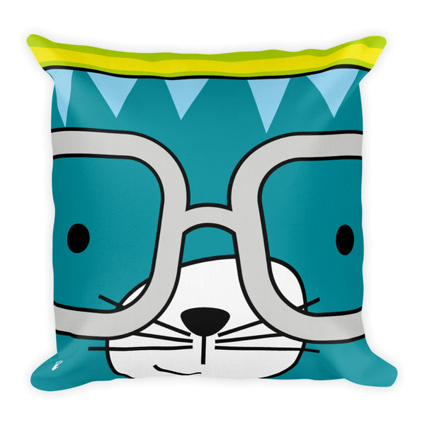 Premium Pillow_Stripes Cool Cat Green