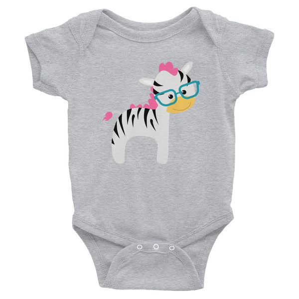 Infant Bodysuit_I Love You Zebra Green