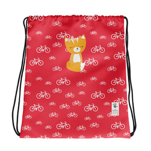 Drawstring Bag_My Bike Smarty Pants Red