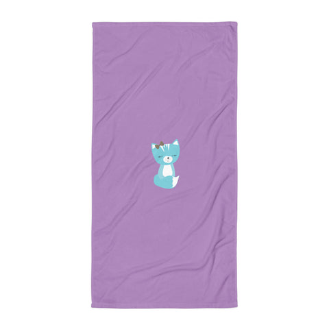 Towel_Solid Purple Smarty Pants