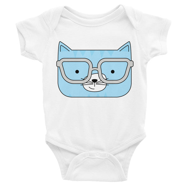 Infant Bodysuit_Diagonal Stripes Cool Cat Green