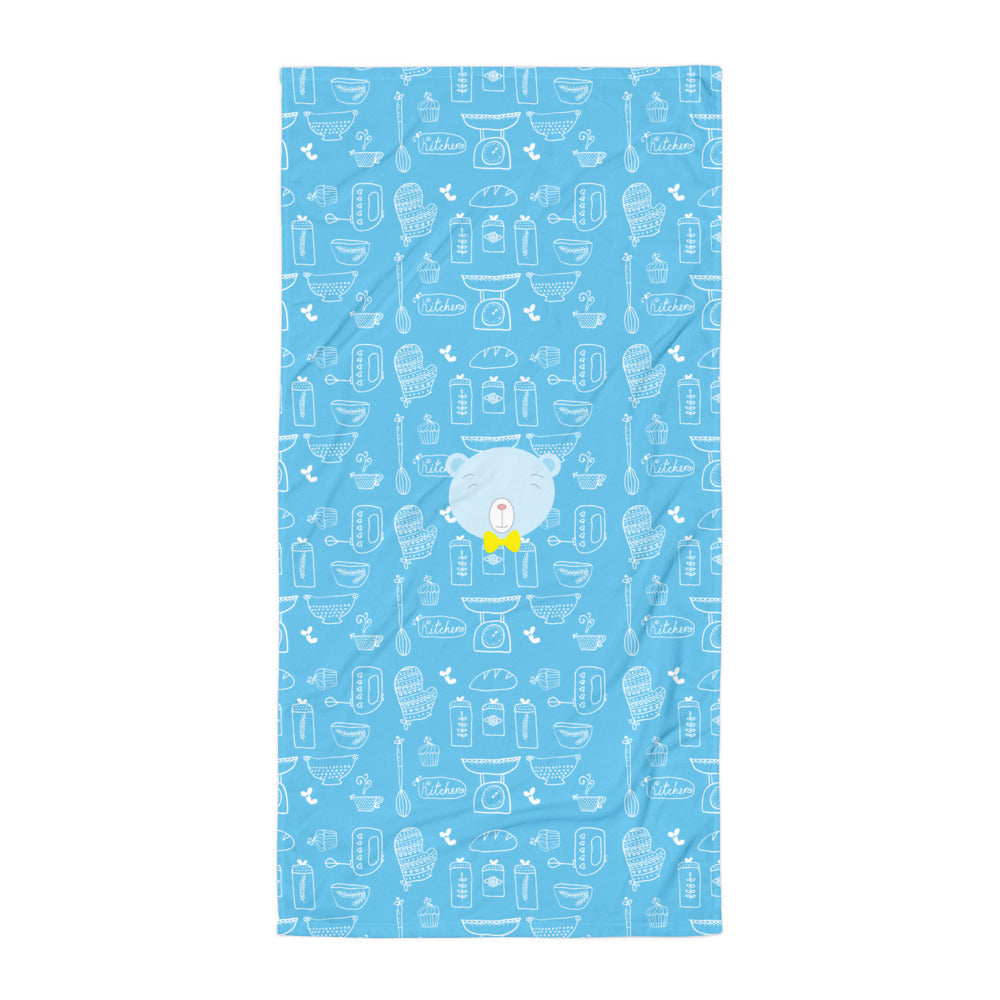 Towel_Baking Bear Blue