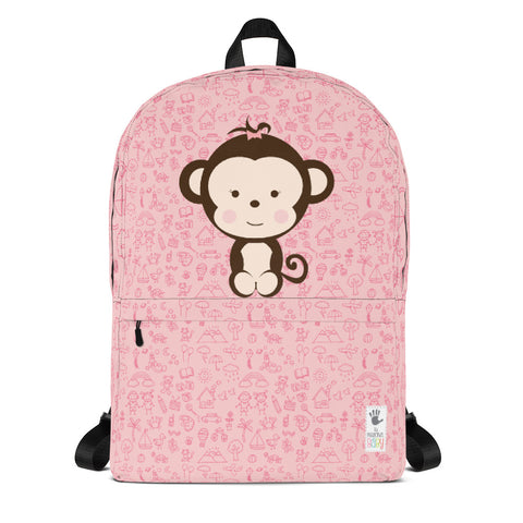 Backpack_My Everything Cheeky Monkey Pink