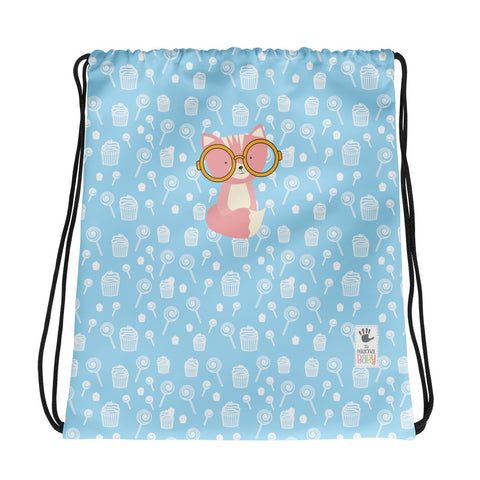 Drawstring Bag_Sweetie Smarty Pants Blue Pink