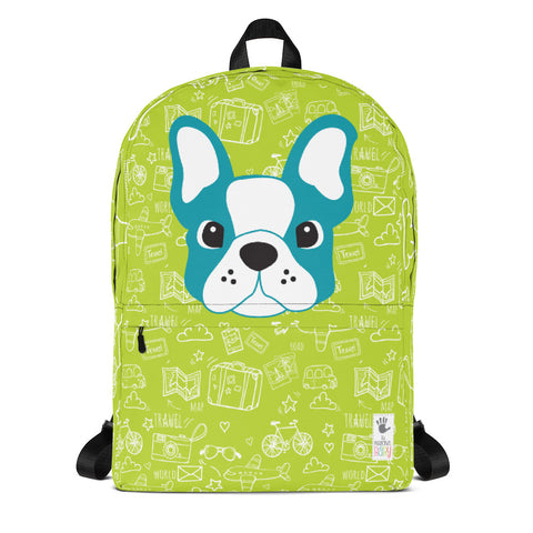 Backpack_See The World Little FB Pup Green Blue