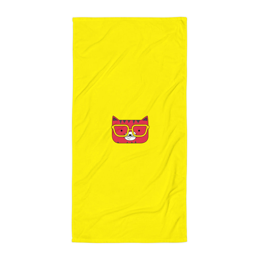 Towel_Solid Yellow Cool Cat