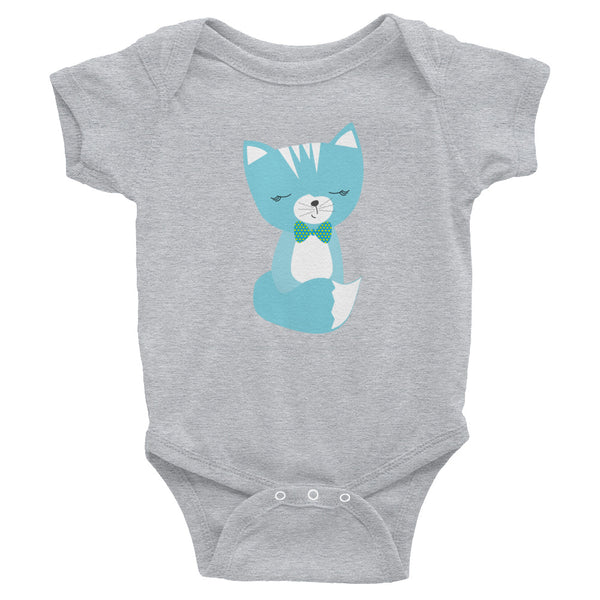 Infant Bodysuit_Hidden Kitten Blue