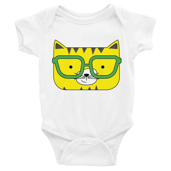 Infant Bodysuit_Solid Pink Cool Cat