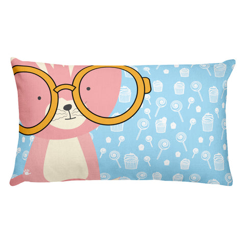 Premium Pillow_Sweetie Smarty Pants Blue Pink