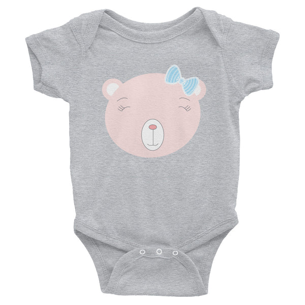 Infant Bodysuit_Flower Power Bear Blue Pink