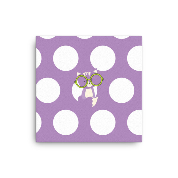 Canvas_Polka Dottie Smarty Pants Purple