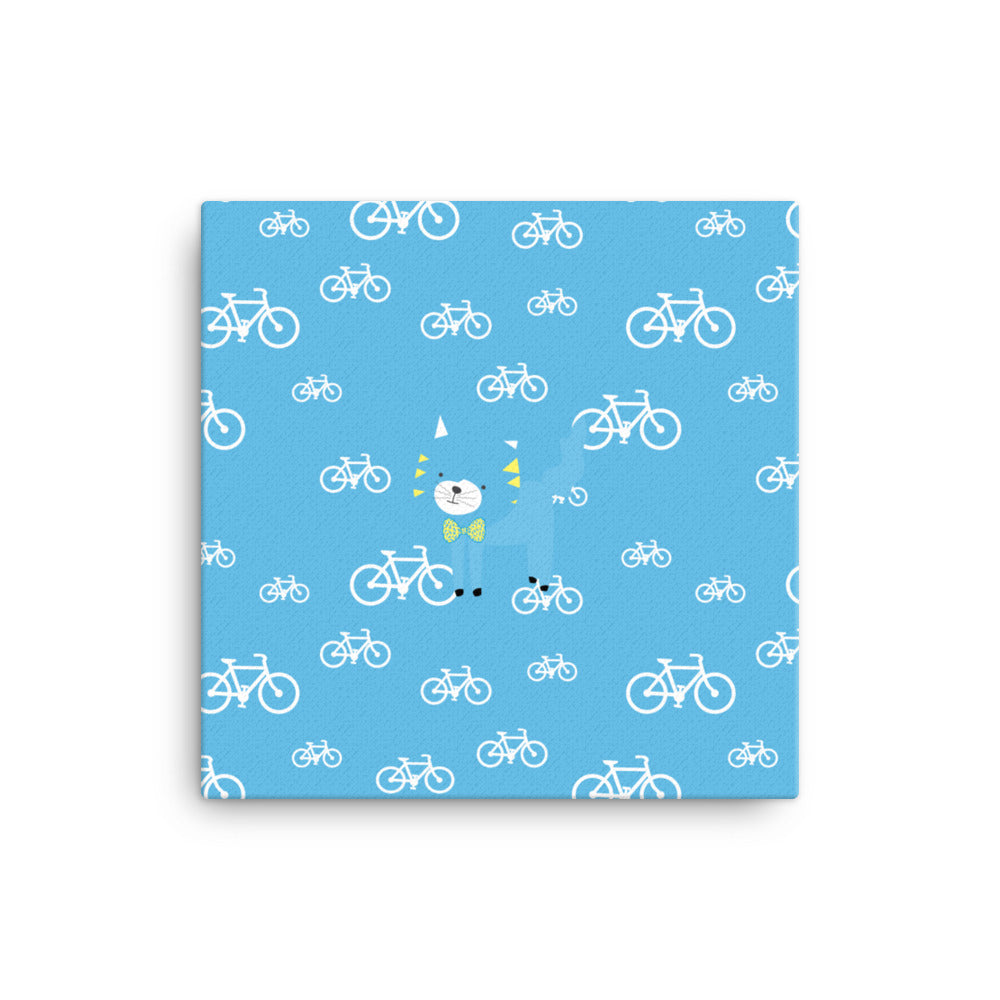 Canvas_My Bike Silly Kitty Blue