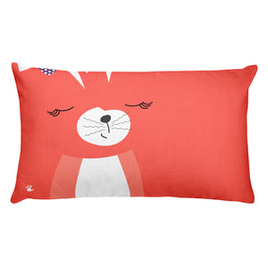 Premium Pillow_Hidden Kitten Red