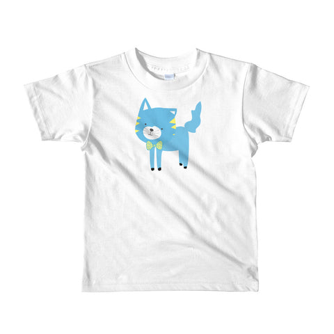 Kids T-Shirt_My Bike Silly Kitty Blue