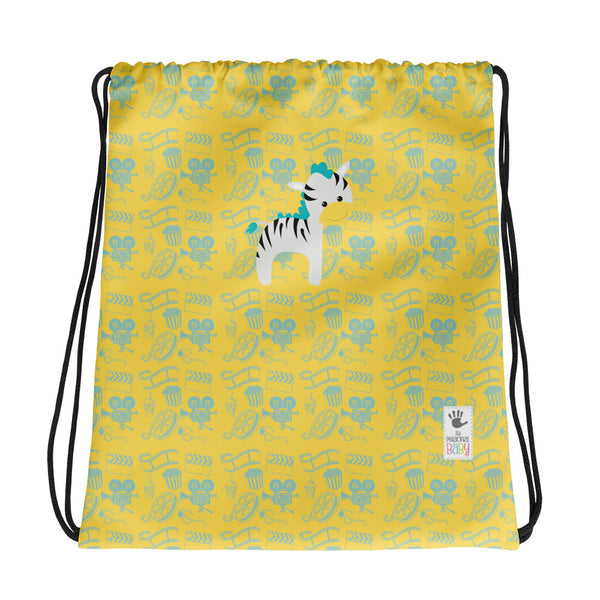 Drawstring Bag_Cinema Zebra Yellow